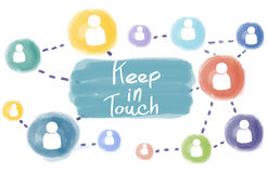 Free Keep In Touch Connect Follow Social Media Follow Concept Royalty Free Stock Image - 75527726