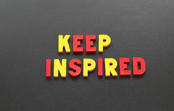 Keep inspired Stock Images