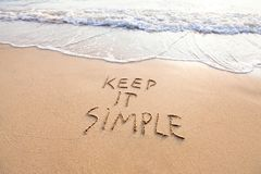 Free Keep It Simple Royalty Free Stock Photography - 113680807