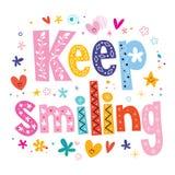 Keep Lächeln Lizenzfreie Stockfotos