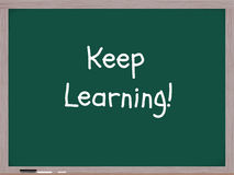 Keep Learning Blackboard Royalty Free Stock Images