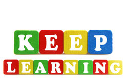 Keep learning concept Stock Image