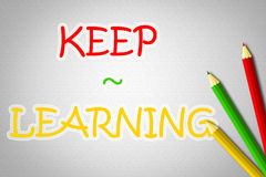 Keep Learning Concept Royalty Free Stock Images