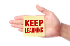 Keep learning Royalty Free Stock Photos