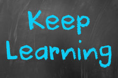 Keep learning Stock Image