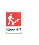 Keep Left Sign in Red and White Stock Image