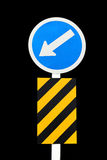 Keep left traffic sign Stock Image