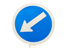 Keep left traffic sign Royalty Free Stock Photos