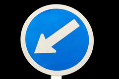 Keep left traffic sign Royalty Free Stock Photo