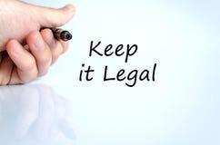 Keep it legal text concept Stock Photos