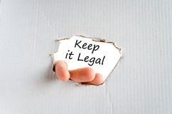 Keep it legal text concept Royalty Free Stock Images
