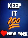 Keep it 100 love new york. Love new york royalty free stock photography