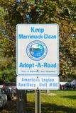 Keep Merrimack Clean road sign, Merrimack, NH, USA