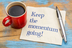 Keep the momentum going! Royalty Free Stock Photos