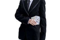 Keep money,save money. In pocket suit Stock Photos