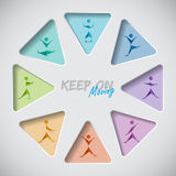 Keep on mooving fitness background Royalty Free Stock Image