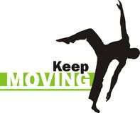 Keep moving 2 royalty free stock photos