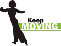 Keep moving royalty free stock photos