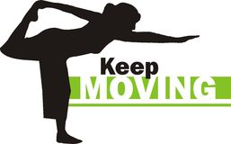 Keep moving 3 stock image