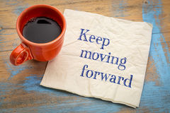 Keep moving forward reminder Royalty Free Stock Images