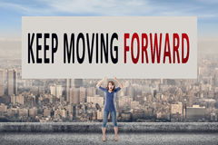 Keep moving forward Royalty Free Stock Photography