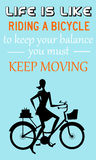 Keep moving stock illustration