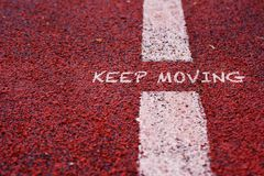 Keep moving on red sport race Stock Images