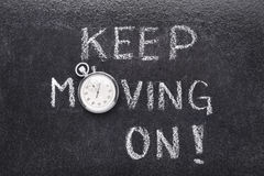 Keep moving on watch Royalty Free Stock Image