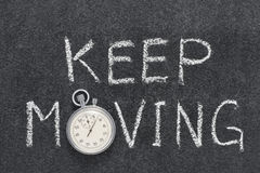 Keep moving watch Royalty Free Stock Photography