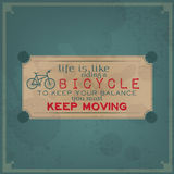 Keep moving on your bike Stock Image