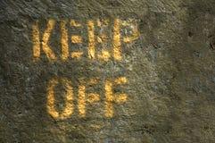 Keep Off stock image