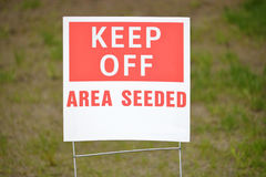 Keep Off Area Seeded Sign Royalty Free Stock Image