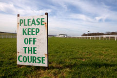 Keep off the Course (Epsom) Royalty Free Stock Images