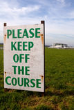 Keep off the Course (Epsom) Royalty Free Stock Image