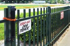 Keep off dog track sign Stock Photos
