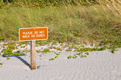 Keep off dunes sign in Florida Stock Images