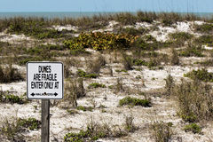 Keep off of dunes sign Stock Photography