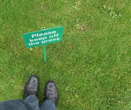 Keep off the grass Royalty Free Stock Images