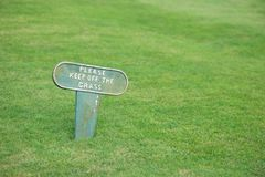 Keep Off The Grass Stock Photos
