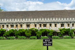 'Keep off the grass' Royalty Free Stock Photography