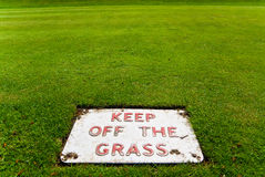 Keep off the grass Royalty Free Stock Photos