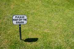 Keep Off The Grass Stock Photography