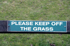 Keep off the grass sign Royalty Free Stock Images