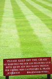 Keep off the grass sign Royalty Free Stock Photo