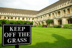 Keep off the grass sign Stock Image