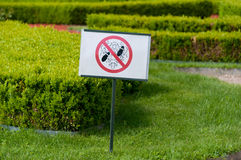 Keep off the grass sign Stock Photos