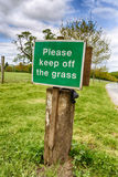 Keep Off Grass Royalty Free Stock Images