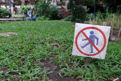 Keep Off the Grass Sign. Royalty Free Stock Photo