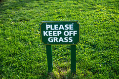 Keep off Grass Sign Royalty Free Stock Photography