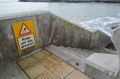 Keep off groyne sign. Stock Photography